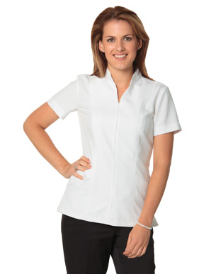 Picture of Winning Spirit - M8636S - Women's Full Zip Front Short Sleeve Tunic