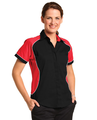 Picture of Winning Spirit - BS16 - Ladie's Tri-colour Contrast Shirt