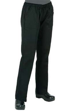 Picture of Chef Works - WBLK - Women's Black Chef Pants