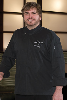 Picture of Chef Works - BLDF - New Yorker Black Executive Cool Vent™ Chef Coat