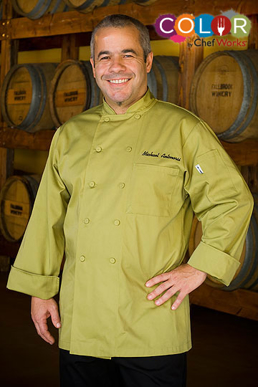 Picture of Chef Works - 2833 - Genova Lime Basic Chef Coat