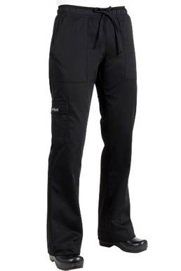 Picture of Chef Works - CPWO-BLK - Women's Black Cargo Chef Pant