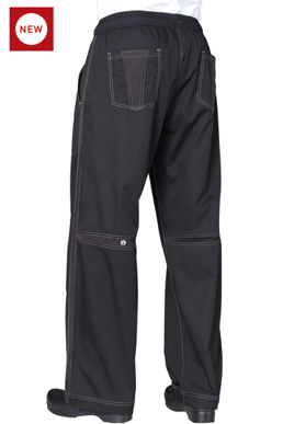 Picture of Chef Works - CVBP - Black Cool Vent Baggy Pants