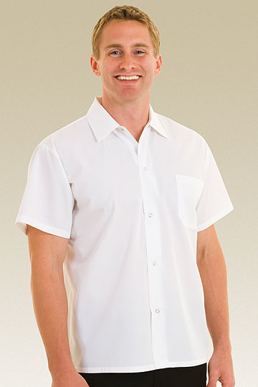 Picture of Chef Works - SHYK - White Utility Cook Shirt w Snaps