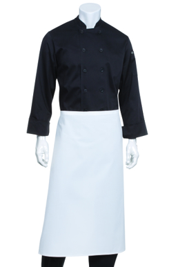 Picture of Chef Works - B3-BLK - Black 34 Bar Apron