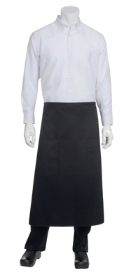 Picture of Chef Works - 122A-BLK - Black Two Patch Pocket Bistro