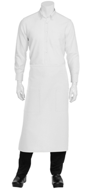 Picture of Chef Works - 122A-WHT - White Two Patch Pocket Bistro