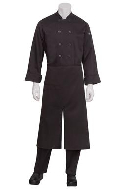 Picture of Chef Works - A400-BLK - Black Split Bistro Apron