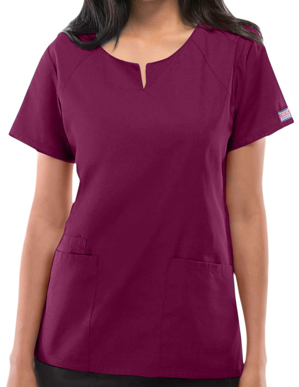 Picture of CHEROKEE-CH-4824-Cherokee Workwear Womens Four Pocket Scrub Top