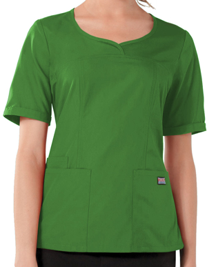 Picture of CHEROKEE-CH-4746-Cherokee Workwear Women's Three Pocket V-Neck Top