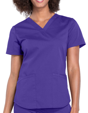 Picture of CHEROKEE-CH-WW665-Cherokee Workwear Professionals V-neck Solid Top