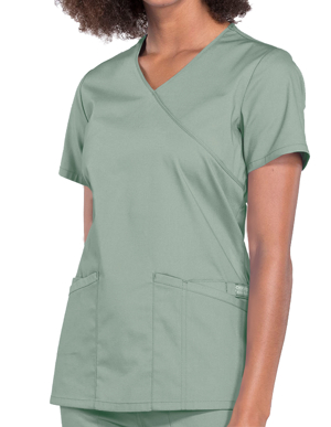 Picture of CHEROKEE-CH-WW655-Cherokee Workwear Professionals Women's Mock Wrap Top