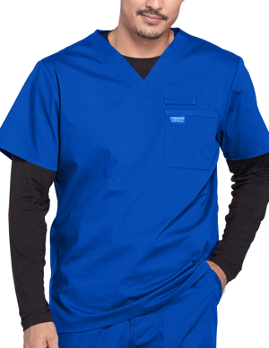 Picture of CHEROKEE-CH-WW675-Cherokee Workwear Professionals Men's V-Neck Basic Scrubs Top