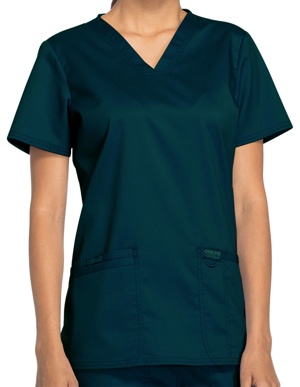 Picture of CHEROKEE-CH-WW620-Cherokee Workwear Revolution Womens Nursing V-Neck Top