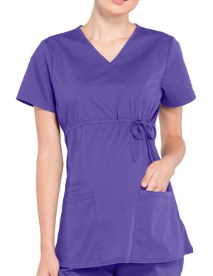 Picture of CHEROKEE-CH-WW685-Cherokee Workwear Professionals Women's Maternity Mock Wrap Top