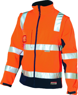 Picture of HUSKI-K8074 -Chassis Jacket Softshell 2 in 1
