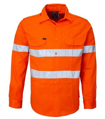 Picture of Ritemate Workwear-RM108V3R-Vented Open Front Light Weight with 3M 8910 Tape Shirts