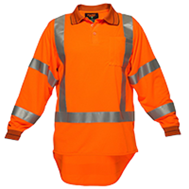 Picture of Prime Mover-MZ713-KIWI TTMC-W LONG SLEEVE MICRO MESH POLO WITH TAPE