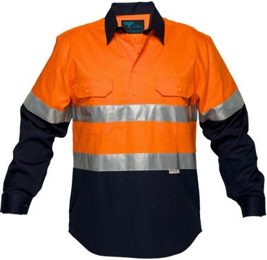 Picture of Prime Mover-MC101-Hi Vis Cotton Drill Shirt