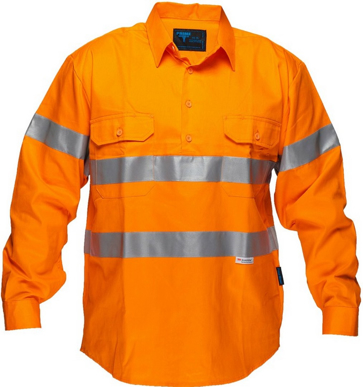 Picture of Prime Mover-MC191-Solid Orange regular Cotton Shirt