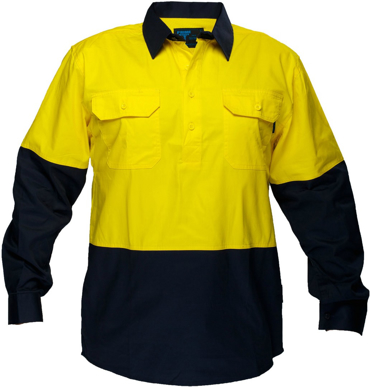 Picture of Prime Mover-MC801-Hi Vis Cotton Drill Shirt