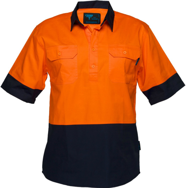 Picture of Prime Mover-MC802-Hi Vis Cotton Drill Shirt