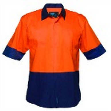 Picture of Prime Mover-MF152-Short Sleeve Food Industry Lightweight Cotton Backed Shirt
