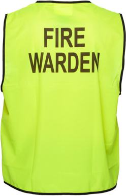 Picture of Prime Mover-MV118-Stock Printed FIRE WARDEN Day Vest