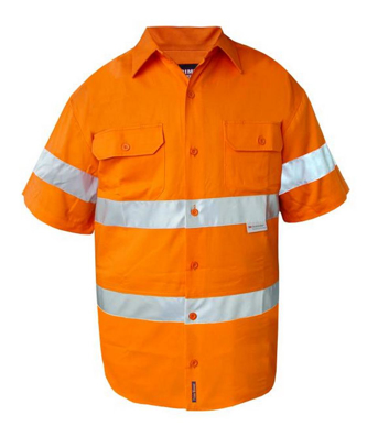 Picture of Prime Mover-MA302-Hi Vis Cotton Drill Shirt