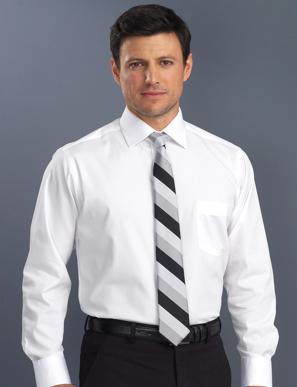 Picture of John Kevin Uniforms-200 White-Mens Long Sleeve Poplin
