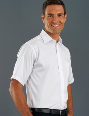 Picture of John Kevin Uniforms-201 White-Mens Short Sleeve Poplin