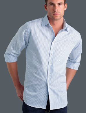 Picture of John Kevin Uniforms-212 Blue-Mens Long Sleeve Three Way Stripe