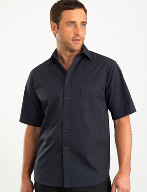 Picture of John Kevin Uniforms-237 Charcoal-Mens Short Sleeve Dark Stripe