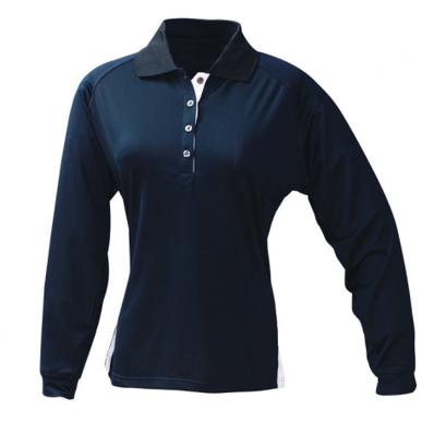 Picture of Stencil Uniforms-1142-Ladies L/S TEAM POLO L/S POLO