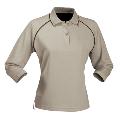 Picture of Stencil Uniforms-1140-Ladies 3/4S COOL DRY POLO L/S POLO