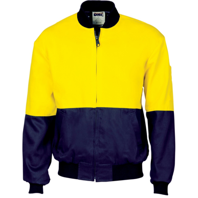 Picture of DNC Workwear-3757-HiVis Two Tone Cott on Bomber Jacket