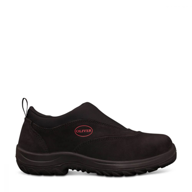 Picture of Oliver Boots-34-610-BLACK SLIP ON SPORTS SHOE