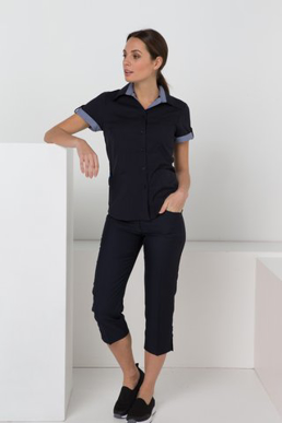 Picture of LSJ collection-176K-MG-Ladies Skinny leg low rise 3/4 capri pant with keyloop