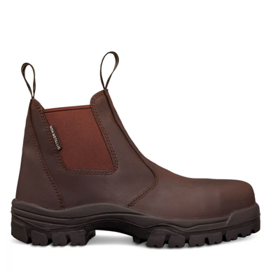Picture of Oliver Boots-45-627-BROWN ELASTIC SIDED BOOT