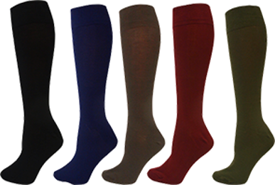 Picture of Bamboo Textiles-BAFINEGR-Women's Fine Knit Knee High Socks