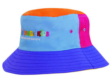 Picture of Headwear Stockist-3941-Breathable Poly Twill Childs Bucket Hat
