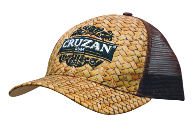 Picture of Headwear Stockist-3999-Cane Print with Mech Back