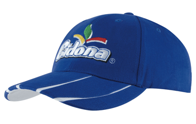Picture of Headwear Stockist-4018-Brushed Heavy Cotton with Laminated Two-Tone Peak