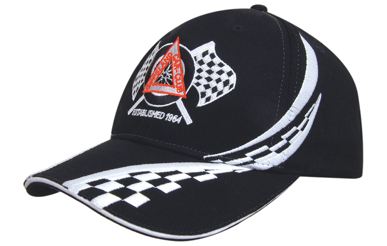 Picture of Headwear Stockist-4076-Brushed Heavy Cotton with Swirling Checks & Sandwich