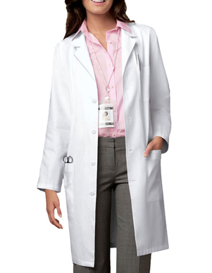 Picture of Cherokee Uniforms-CH-1346-Cherokee Whites Unisex 40 Inches Long Medical Lab Coat