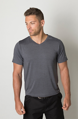 Picture of Be seen-BKT460-Mens charcoal heather soft touch fabric t-shirt