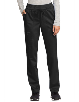 Picture of Cherokee-CH-WW105P-Cherokee Workwear Revolution Women's Mid Rise Tapered Leg Drawstring Petite Pant