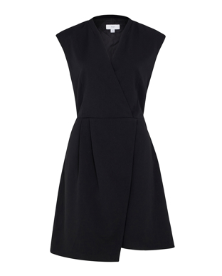 Picture of NNT Uniforms-CAT67Z-BLK-Sleeveless Wrap Dress