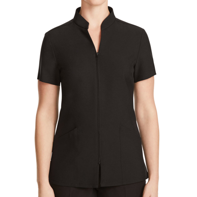 Picture of NNT Uniforms-CATU68-BLK-Zip Front Tunic