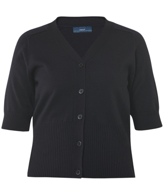 Picture of NNT Uniforms-CAT5BJ-NDP-Short Sleeve Rib Trim Cardigan